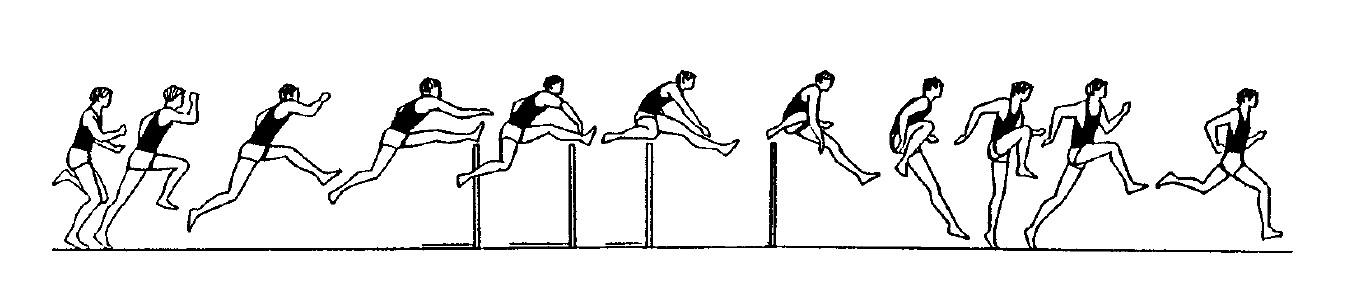 Hürdenlauf Kinegramm